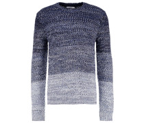 Strickpullover mottled blue