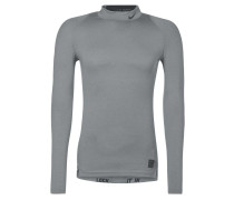 PRO DRY Langarmshirt carbon heather/black