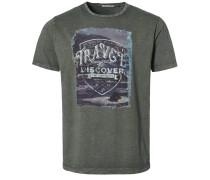 T-Shirt print - dunkelgrün