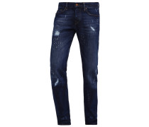 ROCCO Jeans Slim Fit blue denim destroyed