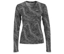 MILER Langarmshirt black/reflective silver