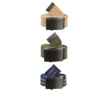 3 PACK - Gürtel - navy/sand/khaki