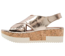 TROPEZ Plateausandalette platino