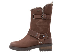 TEMPTER Stiefel distressed brown