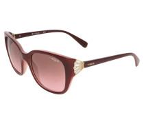 Sonnenbrille bordeaux