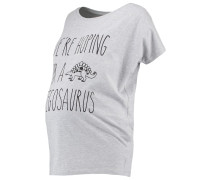 STEGOSAURUS - T-Shirt print - grey marl