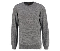 Strickpullover - black/broken white heather