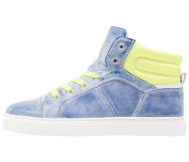 Sneaker high blue/lemon