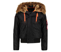 Winterjacke - black/orange