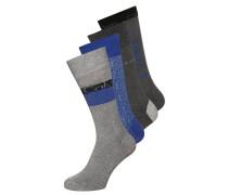 4 PACK Socken charcoal oxford melange/true royal
