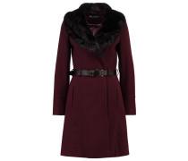 Wollmantel / klassischer Mantel burgundy