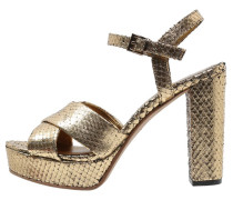VICHY Plateausandalette gold