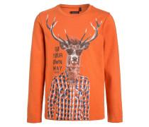 Langarmshirt orange clair