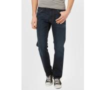 Jeans Straight Leg dark stone wash denim