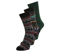 XMAS DINO FAIR 3 PACK Socken multi bright