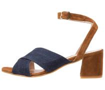 Riemensandalette - jeans/nocciola