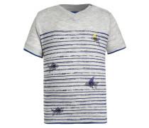 FUNES - T-Shirt print - offwhite melange