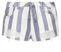 STR MOM Jeans Shorts cream