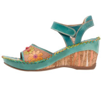 BARRY Plateausandalette turquoise