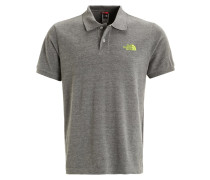 Poloshirt - medium grey heather