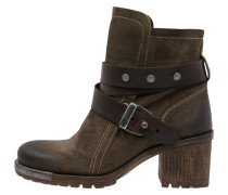 LOK Cowboy/ Bikerstiefelette sludge/dark brown