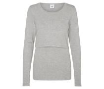Langarmshirt light grey melange