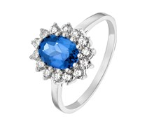 Ring silber/blau