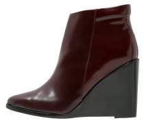 BINNIE High Heel Stiefelette oxblood red
