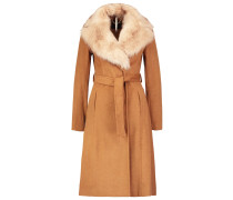 Wollmantel / klassischer Mantel orange