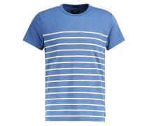 BRETON MUSCLE FIT - T-Shirt print - blue/white