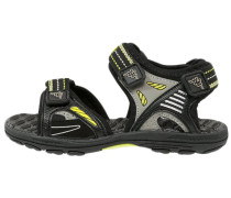 FLOAT - Trekkingsandale - black/lime