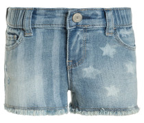 STAR STRIPE - Jeans Shorts - blue denim