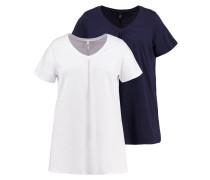 2 PACK - T-Shirt basic - navy/white