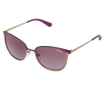 Sonnenbrille matte violet/brushed goldcoloured