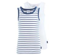2 PACK - Unterhemd / Shirt - white/dark blue
