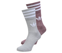 2 PACK - Socken - burgundy/melange soft grey