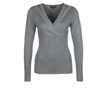 Strickpullover gris chine