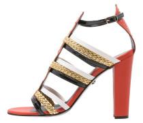 High Heel Sandaletten red/gold