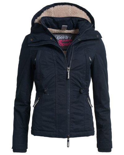 superdry damen winterjacke dark navy reduziert. Black Bedroom Furniture Sets. Home Design Ideas