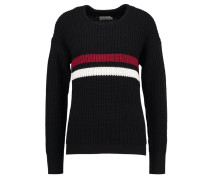 Strickpullover black/red/white