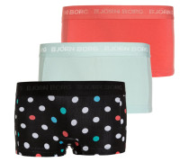 MINISHORTS 3 PACK - Panties - black