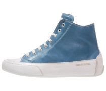 DEVIL - Sneaker high - blu scuro/panna