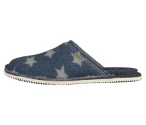Pantolette flach blue