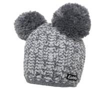 MIMI Mütze grey melange/white
