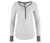 Langarmshirt grey heather/white stripe
