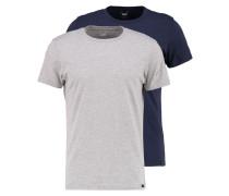 2 PACK - T-Shirt basic - blue/mottled grey