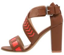 High Heel Sandaletten camel/rouge
