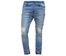 Jeans Relaxed Fit mid indigo distressed