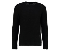 STATIC - Strickpullover - black