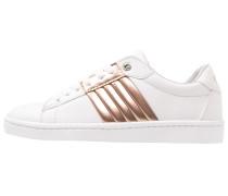 Sneaker low white/metallic rose